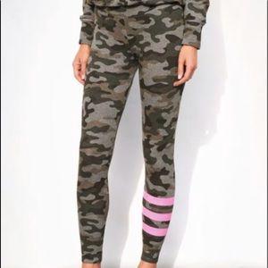 Sundry Camo Pink Stripes Yoga Lounge Pant 0 XS